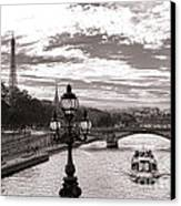 Cruise On The Seine Canvas Print by Olivier Le Queinec