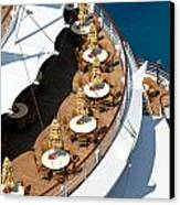 Cruise Ship Symmetry Canvas Print by Amy Cicconi