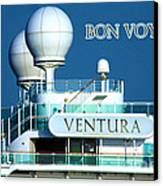 Cruise Ship Ventura's Radar Domes Canvas Print by Terri Waters
