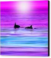 Cruisin' Together Canvas Print by Holly Kempe