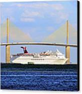 Cruising Tampa Bay Canvas Print by David Lee Thompson