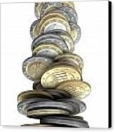Crumbling Coins Canvas Print by Allan Swart