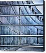 Crystal Bridges Museum Greytones Canvas Print by Gia Marie Houck