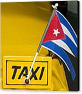 Cuba Taxi Canvas Print by Norman Pogson