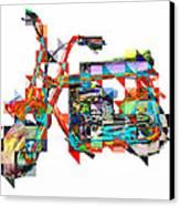 Cubist Mini Bike Canvas Print by Russell Pierce