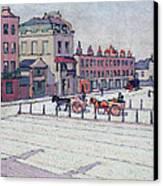 Cumberland Market North Side Canvas Print by Robert Polhill Bevan