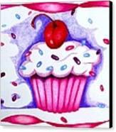 Cupcake And Ribbons Canvas Print