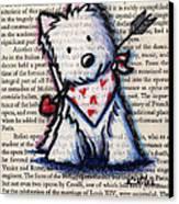 Cupid Westie Canvas Print