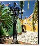 Curacao Colorful Architecture Canvas Print by Amy Cicconi