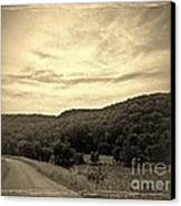 Curvy Road To Nowhere Canvas Print by Garren Zanker