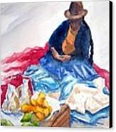 Cuzco Market Canvas Print