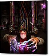 Cyberpunk - Mad Skills Canvas Print by Mike Savad