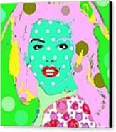 Cyndi Crawford Canvas Print by Ricky Sencion