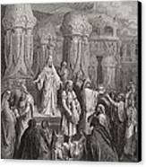 Cyrus Restoring The Vessels Of The Temple Canvas Print by Gustave Dore