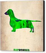 Dachshund Poster 1 Canvas Print by Naxart Studio