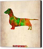 Dachshund Poster 2 Canvas Print by Naxart Studio