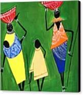 Daily Chores Canvas Print by Shruti Prasad