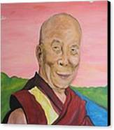 Dalai Lama Portrait Canvas Print by Erik Franco