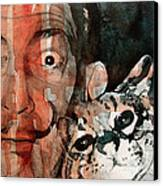 Dali And His Cat Canvas Print by Paul Lovering