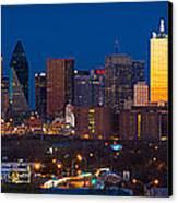 Dallas Skyline Panorama Canvas Print