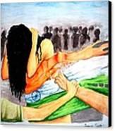 Delhi Gang Rape A Tragedy Canvas Print