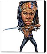 Danai Gurira As Michonne Canvas Print