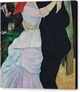 Dance At Bougival Renoir Canvas Print