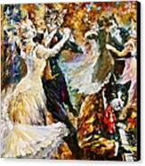 Dance Ball Of Cats  Canvas Print by Leonid Afremov