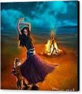 Dance Dervish Fox Canvas Print