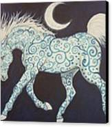 Dance Of The Moon Horse Canvas Print