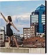 Dance The Durham Skyline Canvas Print by Jh Photos