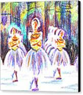 Dancers In The Forest II Canvas Print by Kip DeVore