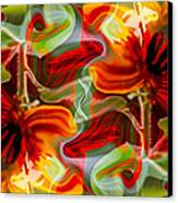 Dancing Flowers Canvas Print by Omaste Witkowski