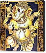 Dancing Ganesh Canvas Print
