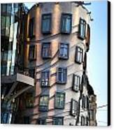 Dancing House In Prague Canvas Print by Jelena Jovanovic