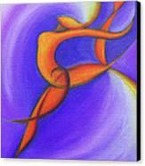Dancing Sprite In Purple And Orange Canvas Print by Tiffany Davis-Rustam