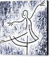 Dancing Swan Canvas Print by Kamil Swiatek