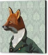 Dandy Fox Portrait Canvas Print