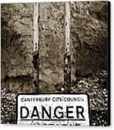 Danger Canvas Print by Mark Rogan