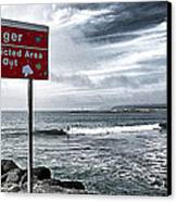 Danger Restricted Area Keep Out Canvas Print