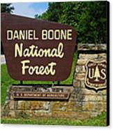 Daniel Boone Canvas Print by Frozen in Time Fine Art Photography
