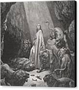 Daniel In The Den Of Lions Canvas Print by Gustave Dore