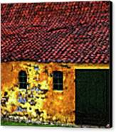 Danish Barn Impasto Version Canvas Print by Steve Harrington