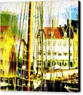 Danish Harbor Canvas Print