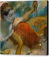 Danseuse A L'eventail Canvas Print by Edgar Degas