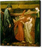 Dantes Dream At The Time Of The Death Of Beatrice 1856 Canvas Print by Philip Ralley