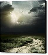 Dark Storm Cloud Canvas Print by Boon Mee