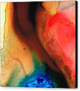 Dark Swan - Abstract Art By Sharon Cummings Canvas Print by Sharon Cummings
