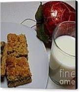 Date Squares - Snack - Dessert - Milk Canvas Print
