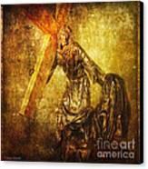 Daughters Of Jerusalem Via Dolorosa 8 Canvas Print by Lianne Schneider